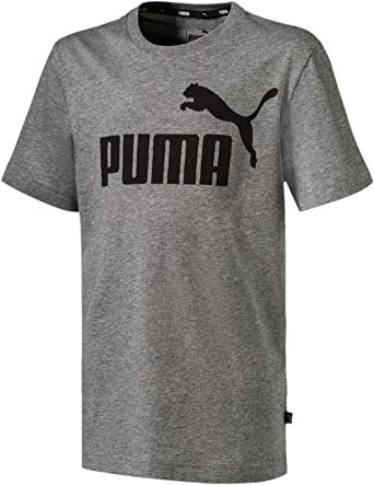 Puma ESS Logo Tee B T- T-Shirt,Garçon-Noir (Cotton Black)-5 ans (Taille Fabricant:110)