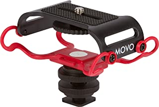 Movo SMM5-R Universal Microphone and Portable Recorder Shock Mount - Fits the Zoom H4n, H5, H6, Tascam DR-40, DR-05, DR-07 with 1/4