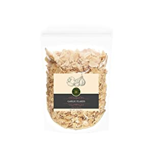 US-FARMERS Organic Spice Dehydrated Garlic Flakes Dry Slice Dried Garlic in Resealable Bag, 1 Lbs