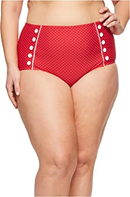 Unique Vintage - Plus Size Phillipa Sailor Bottom