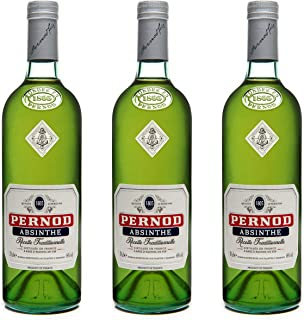 Pernod Absinthe Recette Traditionelle 3er Set, Absinth, Spirituose, Alkohol, 68%, 3 x 700 ml, 70540800
