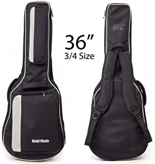 Acoustic and Classical Guitars Gig Bag 3/4 Size (36 inch) by Hola! Music, Deluxe Series..