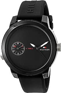 Tommy Hilfiger Men's 1791326 Analog Display Quartz Black Watch
