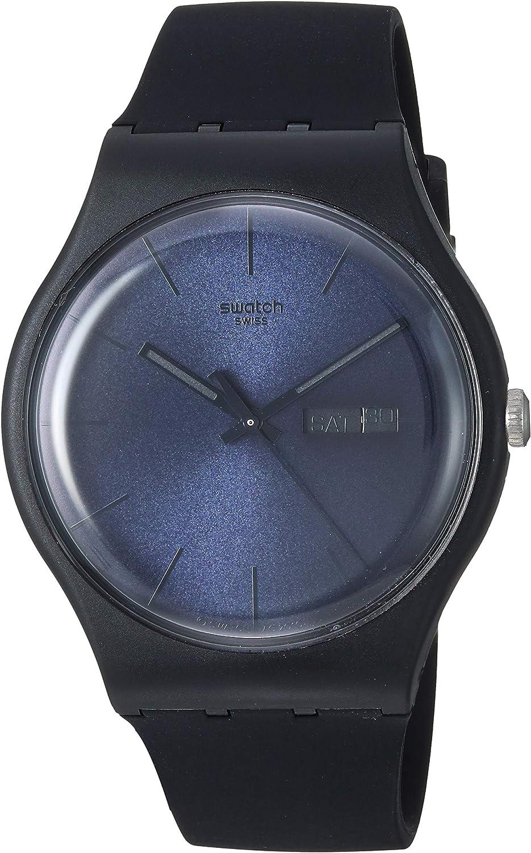 Swatch SUOB702 - Reloj de pulsera hombre, caucho, color negro