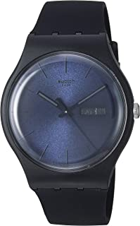 New Gent Quartz Silicone Strap, Black, 20 Casual Watch (Model: SUOB702)