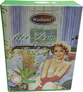 Washami Aloe Vera Intensive Hydrating Face Mask, 28gX10PCS