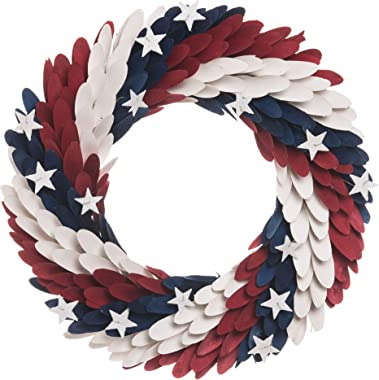C&F Home Americana Patriotic USA 4th of July Memorial Day Labor Day Cookout Liberty Decorative Wreath Wall Decor