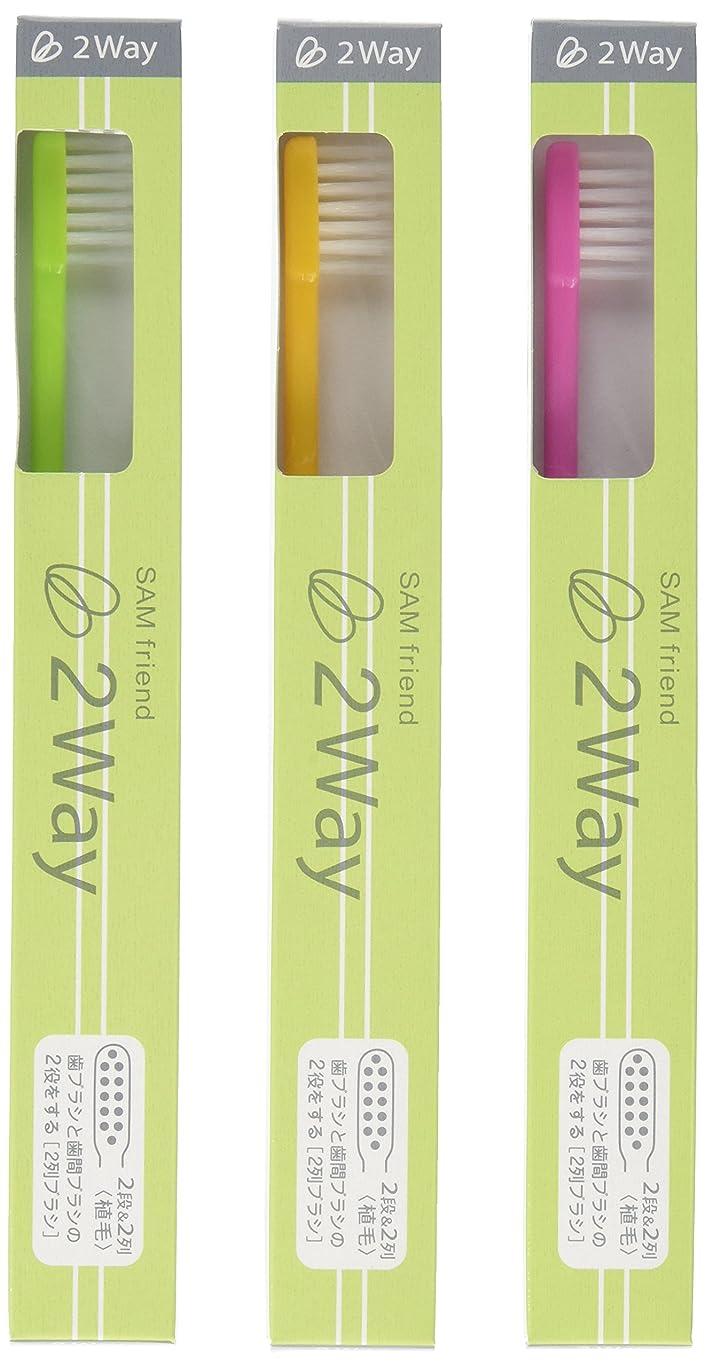 決して多様性却下するサム 2Way歯ブラシ 【3本セット】