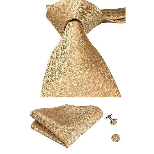 27c4ef3e7a20 CAOFENVOO Mens Tie Pocket Square and Cufflinks Tie Set Gift Box