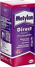 Metylan Direct vliesbehanglijm, hoogwaardige lijm voor direct aanbrengen op de muur, behanglijm voor glad en reliëf behan...