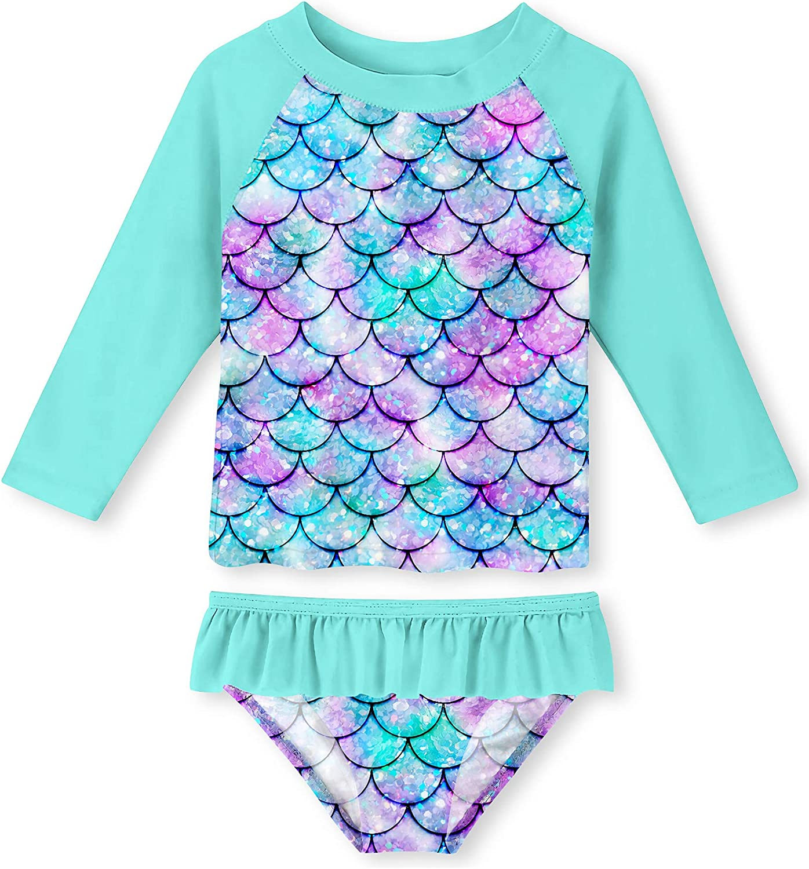 UNIFACO Toddler Girls Swimsuit store Rashguard Beach Breath New York Mall Summer Set
