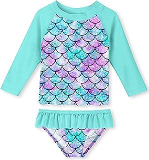 UNIFACO Ridguard لباس شنا دخترانه UNIFACO مجموعه تابستانی تابستانی قابل تنفس با UPF 50+ ضد آفتاب 2-6T