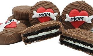 Philadelphia Candies Milk Chocolate Covered OREO® Cookies, Mom Heart Gift for Mom Net Wt 8 oz