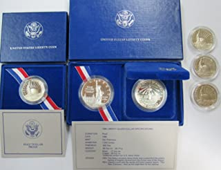 1986 S United States Liberty 6 Coin Silver Set with OGP/COA Proof