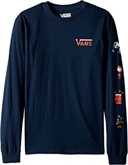 Vans Kids - Peanuts Holiday Long Sleeve Tee (Big Kids)