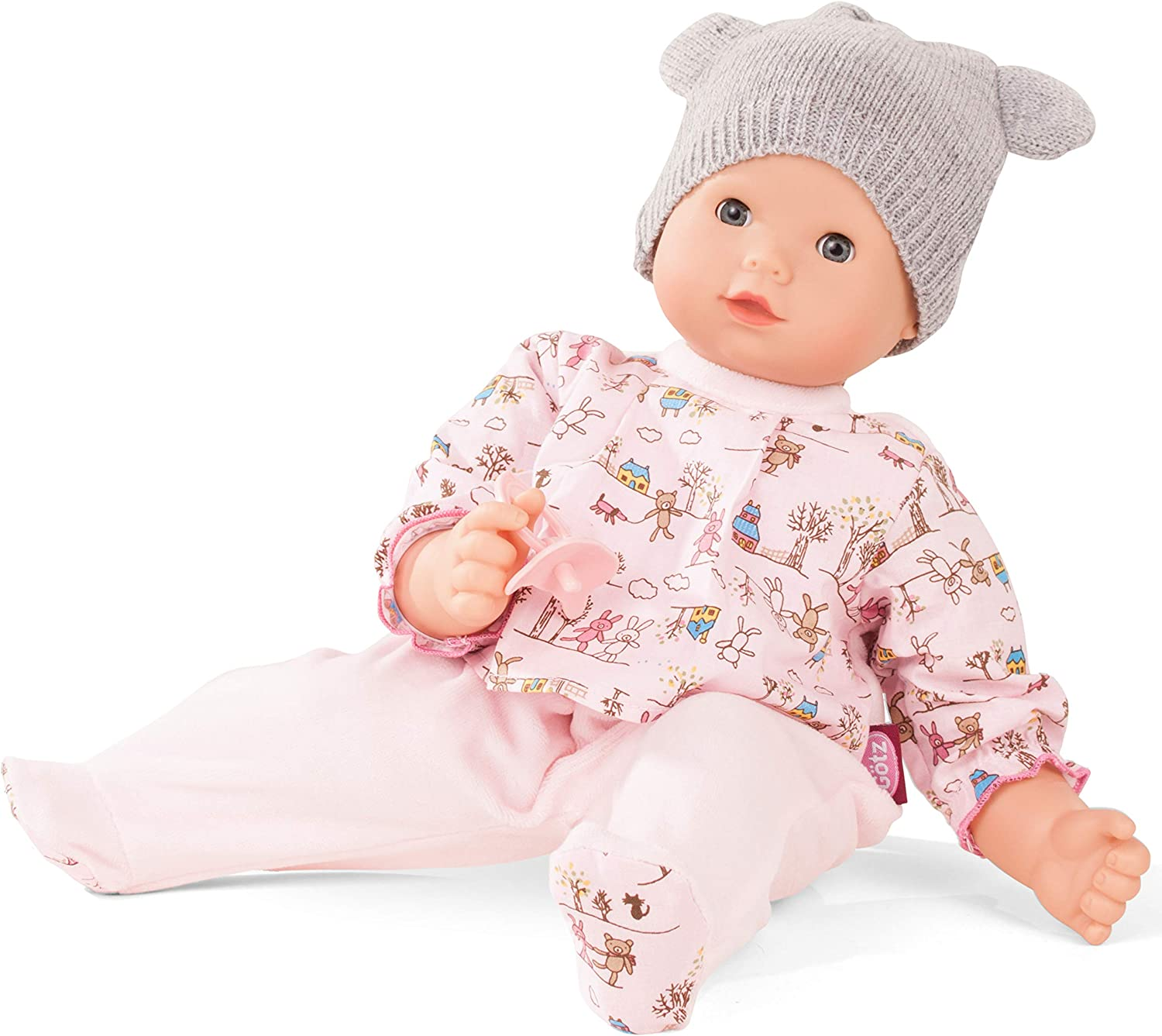 Gotz 1827992 Maxy Muffin Companions SoftBodyDoll  42 cm BabyDoll Without Hair And bluee SleepingEyes  Suitable Agegroup 3+