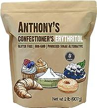 Anthony's Confectioner's Erythritol, 2lb, Non GMO, Natural Sweetener, Zero Calorie, Keto & Paleo Friendly