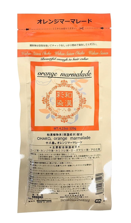 遺伝的使用法スピングランデックス 和漢彩染 十八番 120g オレンジマーマレード