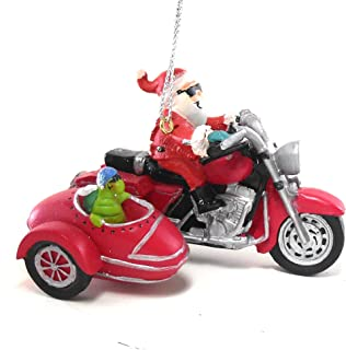 Cape Shore Santa on a Motorcycle, Turtle in Side Car Hanging Ornament