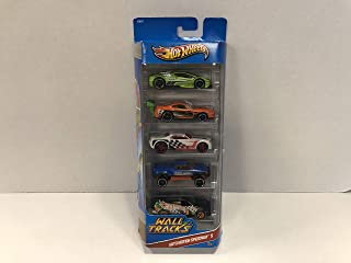 2012 Hot Wheels WALL TRACKS Auto Motion Speedway diecast 5-car Gift Pack with Bully Goat, Fandango, Mega Duty, Super Tsunami, Zotic