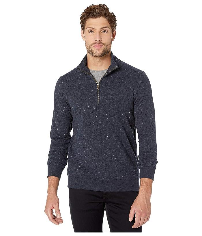 Billy Reid Mens Long Sleeve Donegal Half Zip Pullover Sweater
