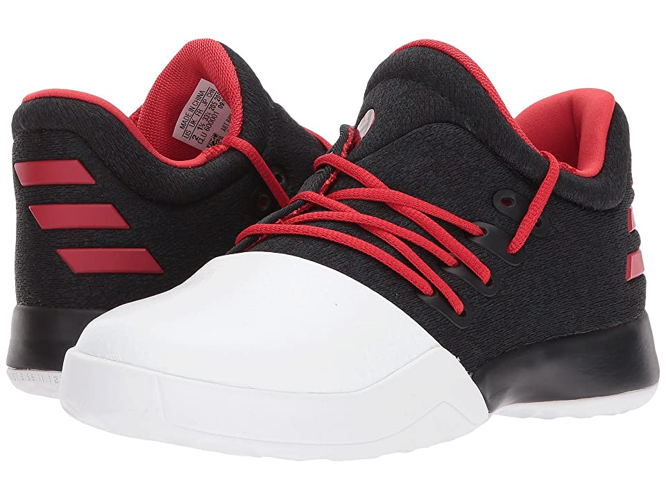 adidas Kids Harden Vol. 1 (Little Kid) (Black/Scarlet/White) Kids Shoes