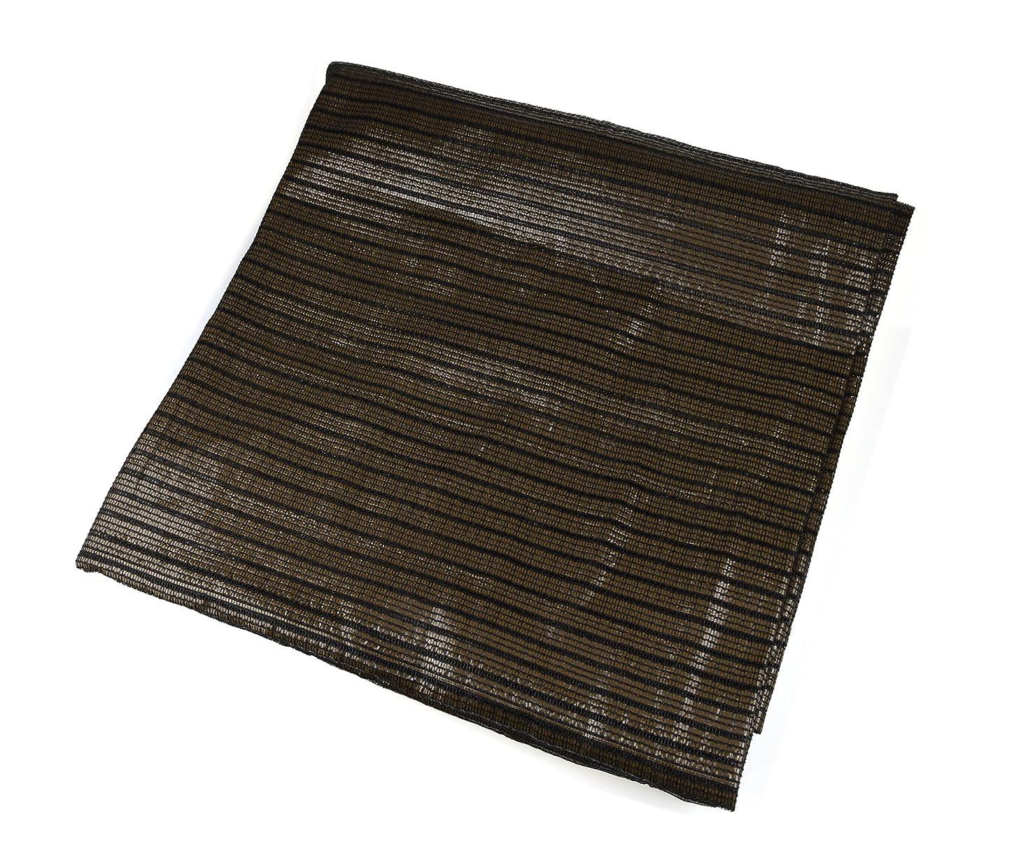 辞書批評切るNKTM オーニングシェード 日よけのクールシェード 穴付け 西日対策やエアコンの室外機対策 2m*2m 茶褐色