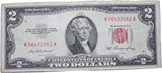 $2 United States Note - Red Seal - Average Circulated Condition ($2 Red Seal 1953)