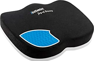 Sojoy iGelComfort Coccyx with Beautiful Buttock Gel and Memory Foam Seat Cushion for Back Pain Relief, Tailbone Support (17x2.8x13)