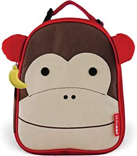 Skip Hop Zoo Kids Insulated Lunch Box, Marshall Monkey, Brown