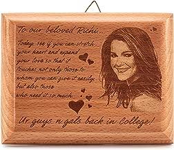 Presto Personalized Engraved Wooden Photo Plaque Frame (Multicolour, 5x4-inch)