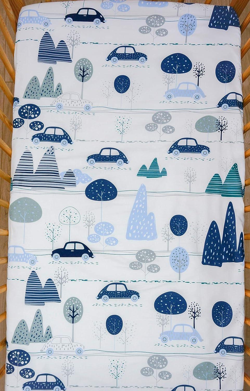 120 x 60 cm motivo 15 Lenzuola per culla//lettino in cotone