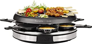 comprar comparacion Tefal Gourmet Déco 6 Inox & Design RE127812 - Raclette con thermospot, revestimiento antiadherente, 6 palas individuales, ...
