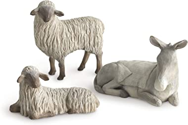 Willow Tree Gentle Animals of The Stable for The Christmas Story, Sculpted Hand-Painted Nativity Figures, 3-Piece Set