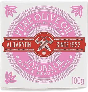 Alqaryon Jojoba Oil & Olive Oil Bar Soaps, Pack of 4 Bars 100g - Alqaryonのホホバ オイルとオリーブオイル ソープ、バス & ビューティー ケア、100gの石鹸4個のパック