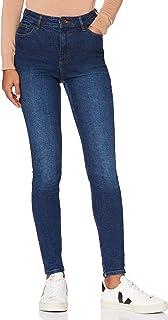 MERAKI Jeans Ajustados de Cintura Alta Mujer
