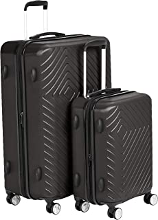 Geometric Luggage Expandable Suitcase Spinner with Built-In TSA Lock