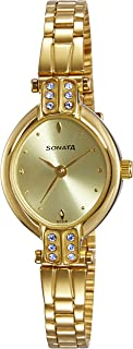 Women's Analog Gold Dial Watch