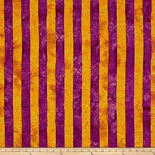 FreeSpirit Fabrics Free Spirit 0555607 Kaffe Fassett Artisan Batik Big Stripe Fabric by The Yard, Orange