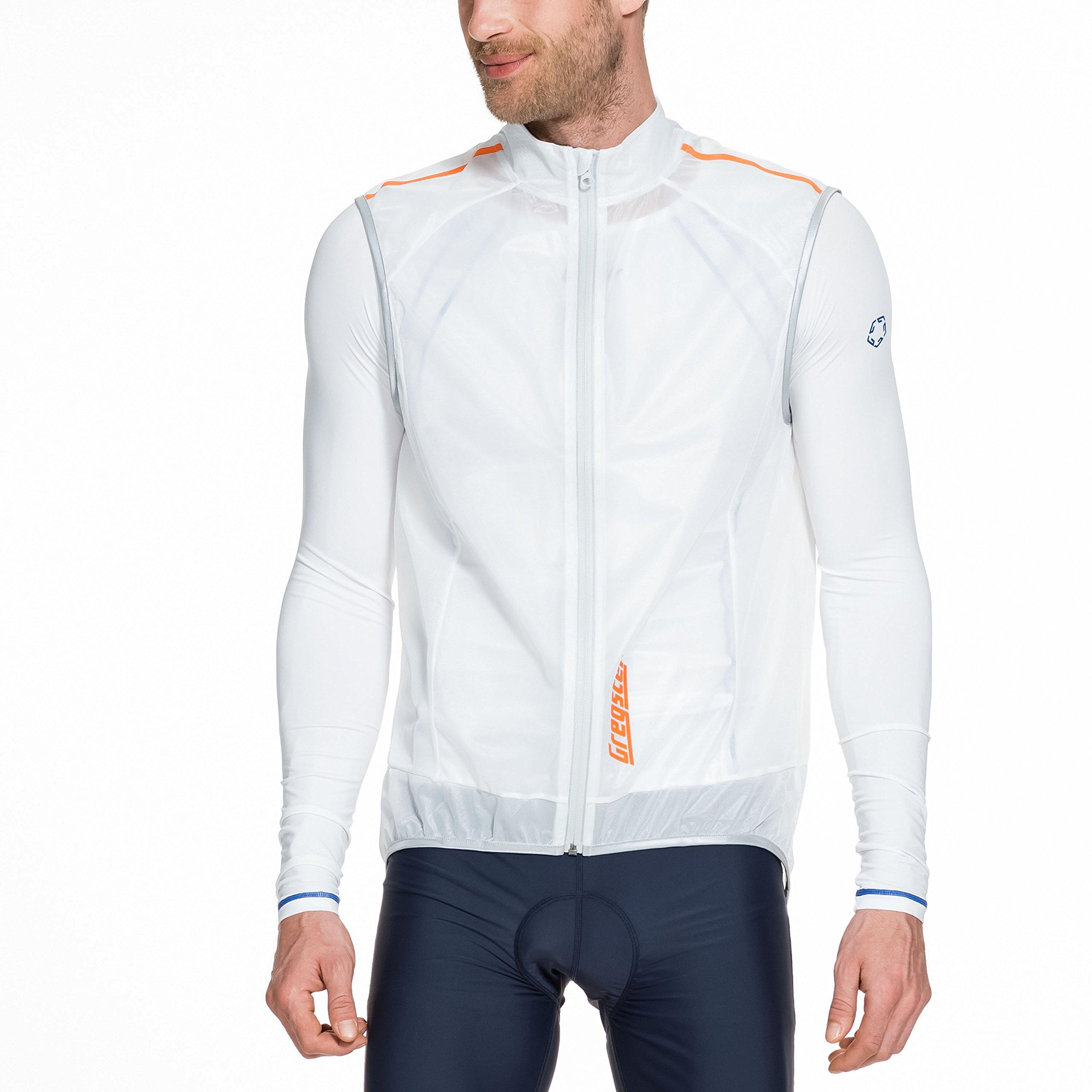 Gregster Herren Fahrradweste Bilge, Weiß, L, 12900