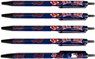 Pro Specialties Group MLB Boston Red Sox 5-Pack Click Pens