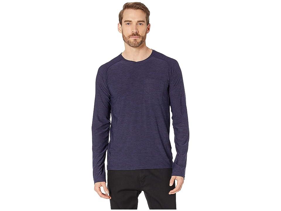 Royal Robbins Bug Barriertm Tech Travel Long Sleeve Shirt (Ink Blue Heather) Men