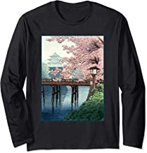 Japanese Cherry Blossom Japanese Woodblock Art  Long Sleeve T-Shirt