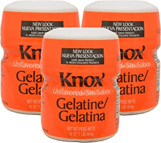 Unflavored Gelatin - 1 lb (Pack of 3)