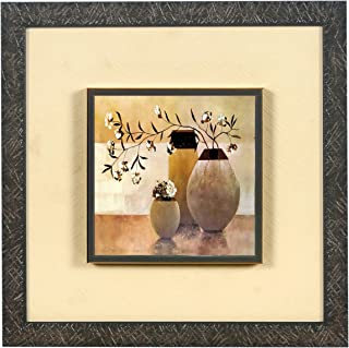 Wens 'Modern Art of Vases Embossed' Wall Art Painting (Synthetic Wood, 33 cm x 33 cm x 4 cm) (WSP-12060)