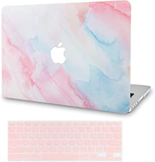 LuvCase 2 in 1 Rubberized Plastic Hard Shell Case Cover with Keyboard Cover Compatible MacBook Air 13 Inch A1466 / A1369 (No Touch ID) (Pale Pink Mist)
