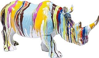 Kare Design Figurine Rhino Colore décorative en Corne de Nez colorée 26 cm