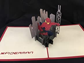 Spiderman 3D Pop Up Card with envelope-Unique Pop Up Greeting Cards for Comic Book Lovers, Marvel, Comic Con, Father's Day, Birthday, Christmas, Anniversary, Valentine, Wedding, Graduation, Thank You