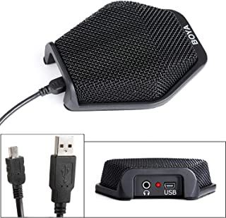 Professional BOYA USB Conference Condenser Microphone, Office Computer Microphone for Recording, Excellent 180-Degree Multidirectional Mic Compatible with Windows Mac Laptop/Desktop Computer/Projector