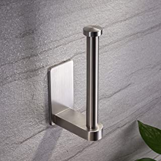 YIGII Self Adhesive Toilet Paper Holder - Bathroom Toilet Paper Holder Stand no Drilling Stainless Steel Brushed